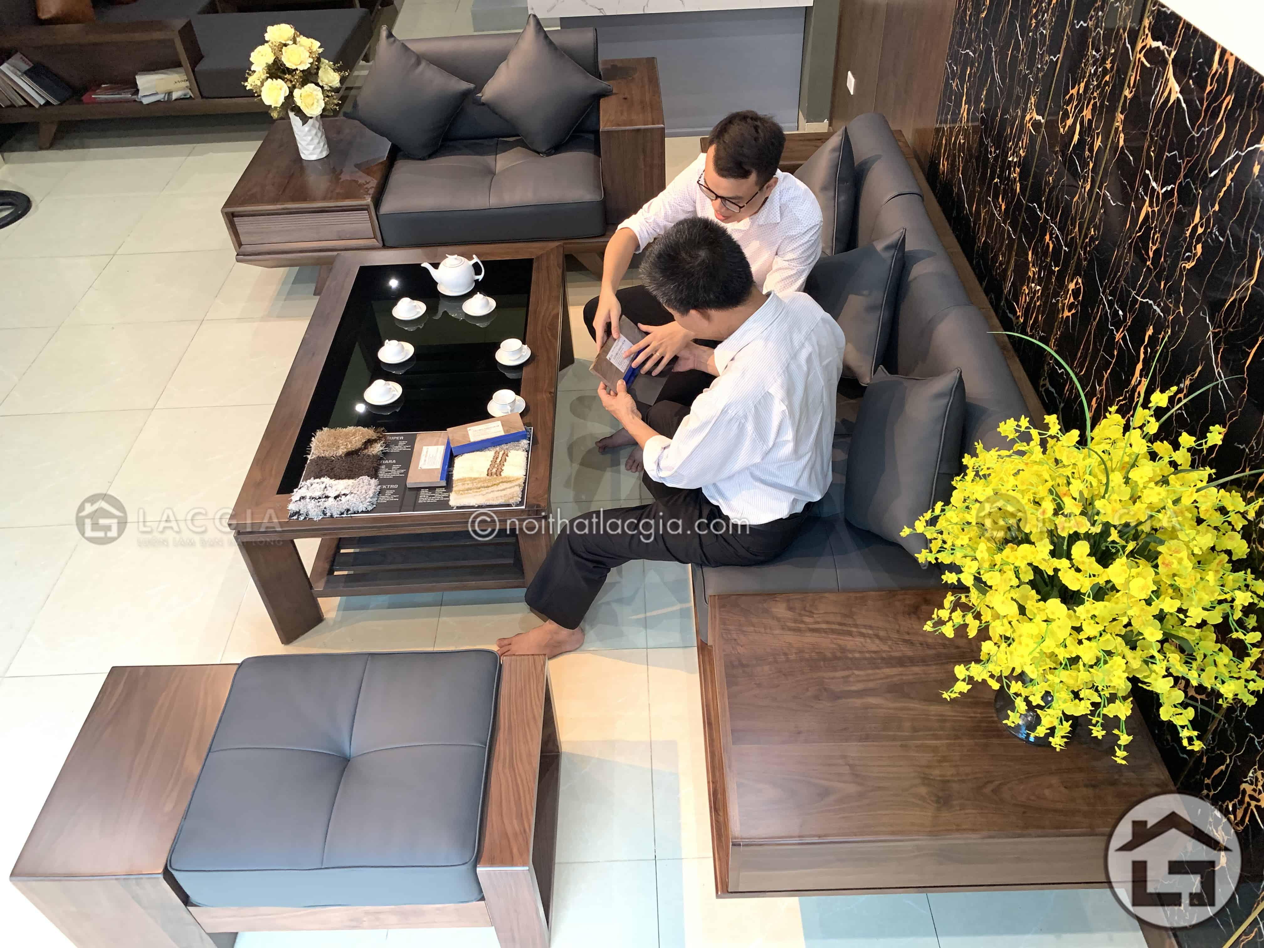 Sofa go cao cap cho phong khach SF21 3 - Sofa gỗ cao cấp SF21