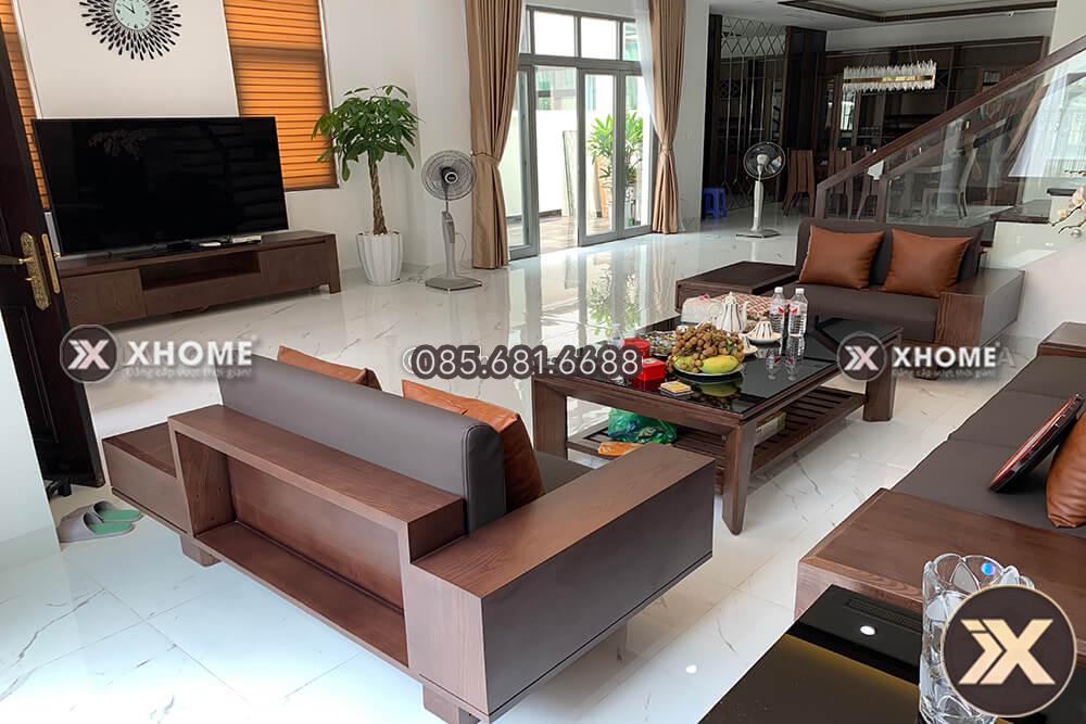 Sofa go cao cap cho phong khach SF22 2 - Giải pháp thiết kế nội thất giúp có một không gian hoàn hảo