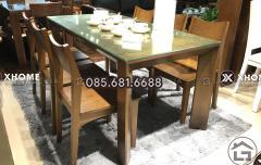 Bàn ăn gỗ 6 ghế hiện đại, cao cấp