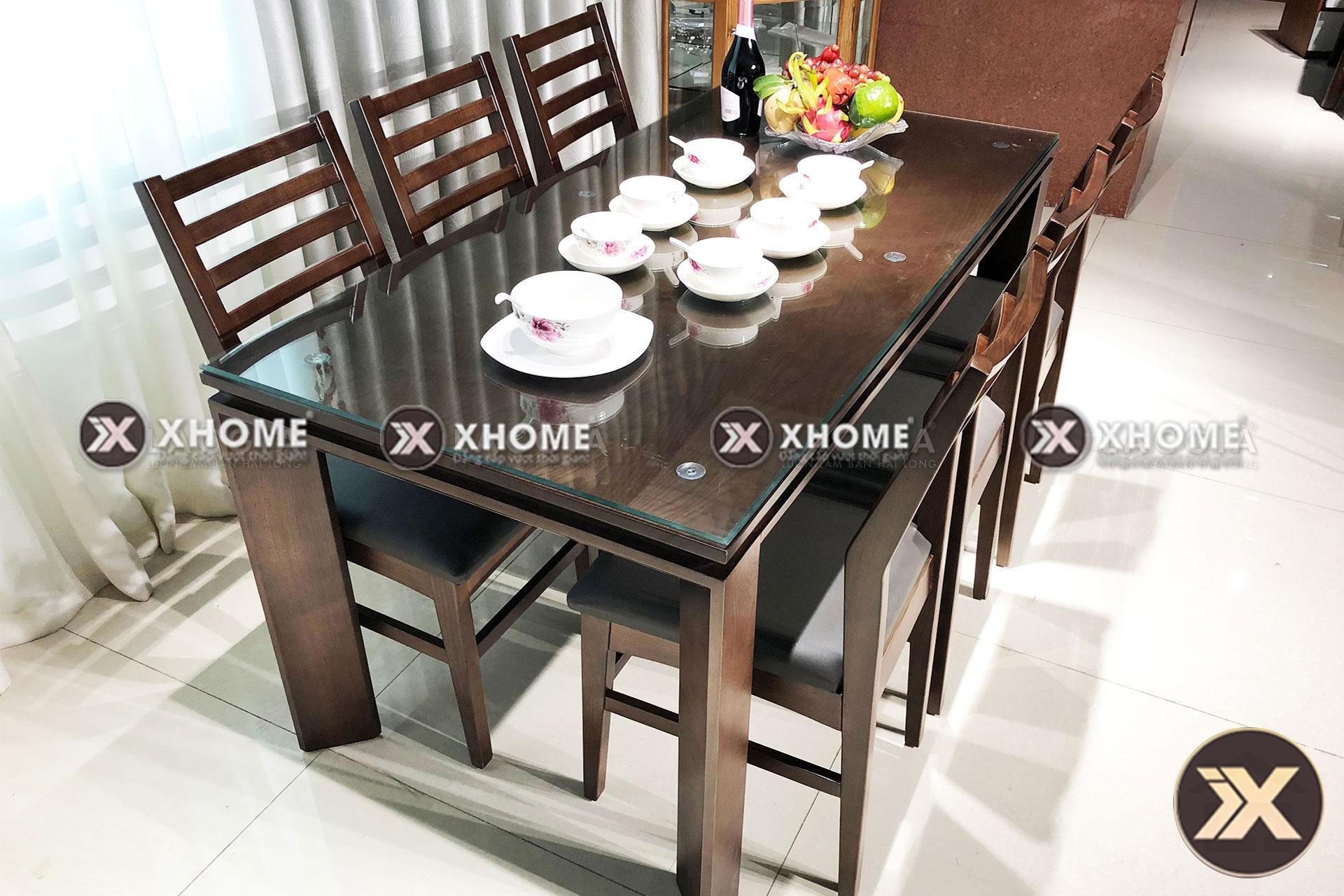ban ghe go hien dai ba03 7 - Xu thế chọn bàn ăn gỗ đẹp phòng ăn cho tết 2020 ấm cúng