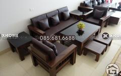 Mẫu bàn ghế gỗ tự nhiên hiện đại, sang trọng