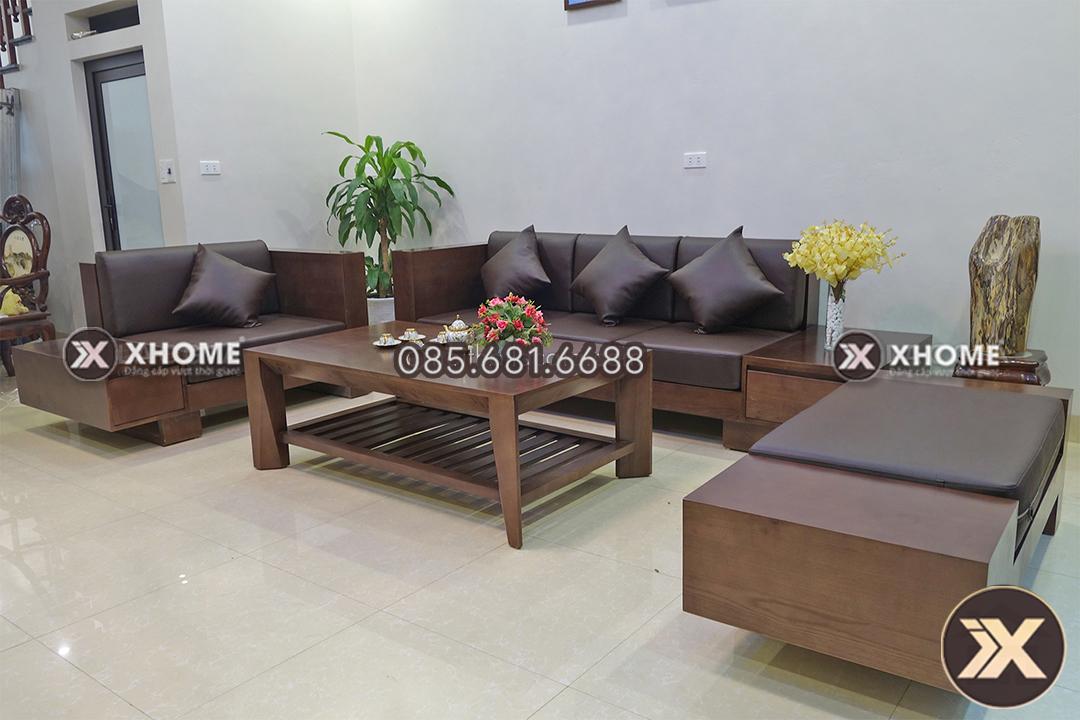 ban ghe sofa go dep SF06 - Sofa gỗ phòng khách đẹp SF06