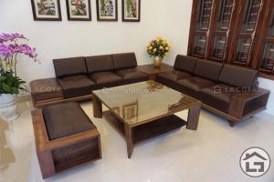 Sofa gỗ cao cấp, hiện đại