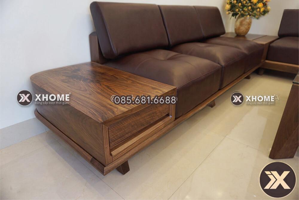 Sofa gỗ cao cấp, hiện đại sử dụng chất liệu gỗ óc chó