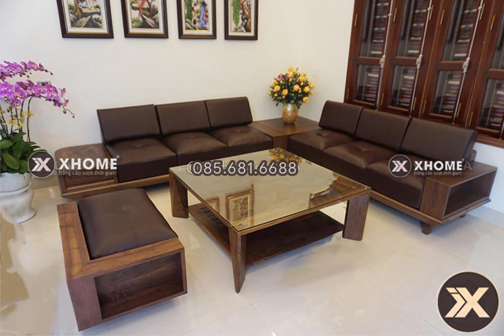 sofa go cao cap SF17 - Giắt túi 3 công thức chọn sofa gỗ đẹp cho mọi phòng khách