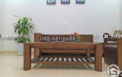 Sofa gỗ tự nhiên đẹp, sang trọng