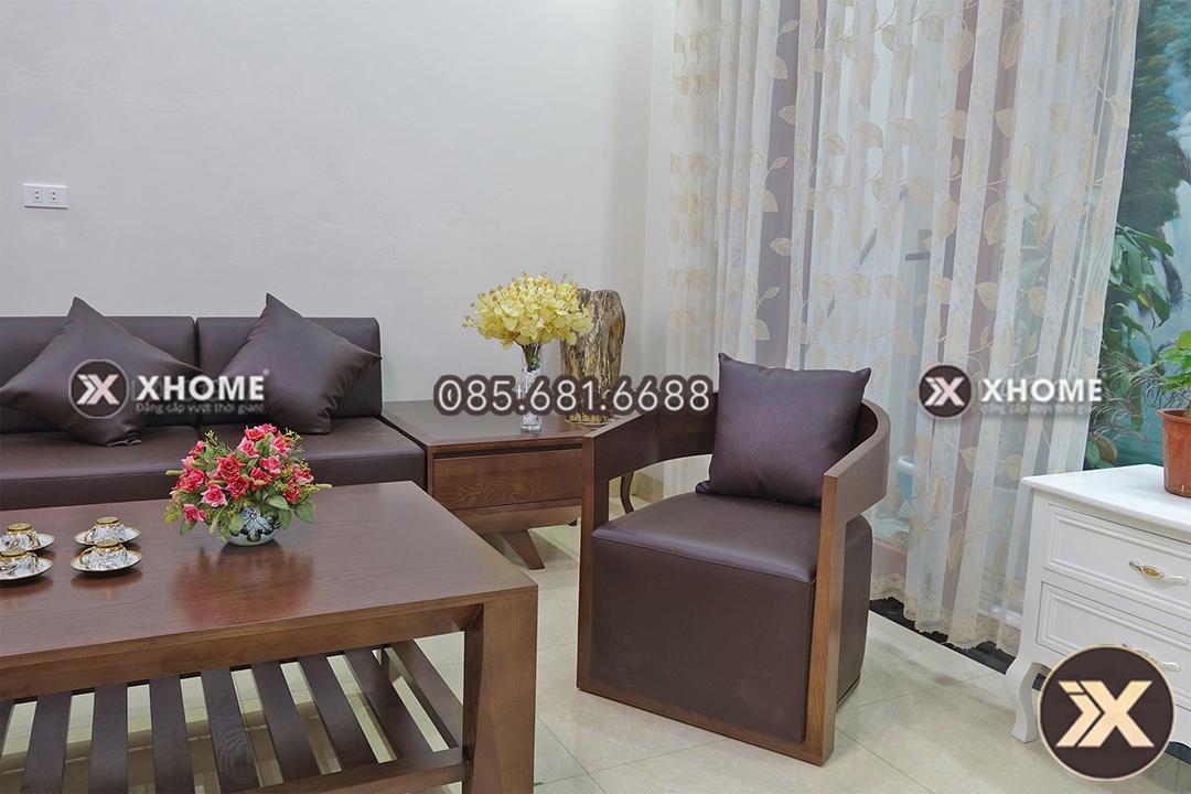 sofa go cao cap chu L SF09 5 - Sofa gỗ đẹp SF09