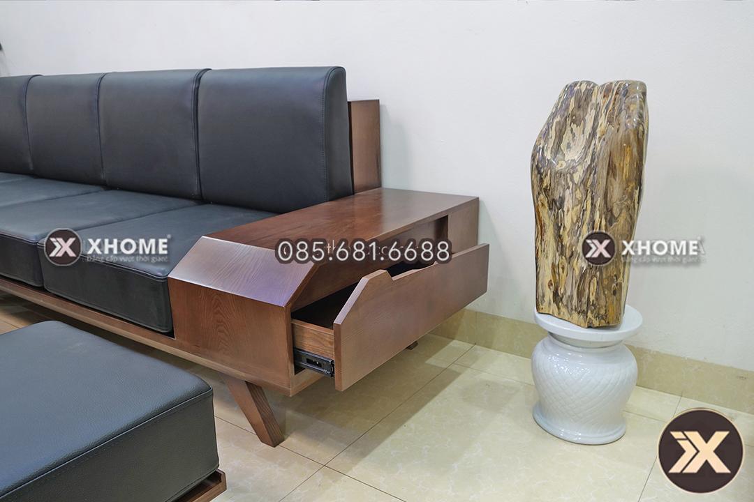 sofa go chu L cho phong khach nho SF05 2 - Sofa gỗ chữ L đẹp SF05