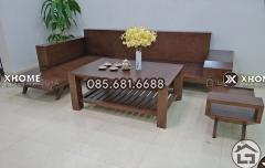 Sofa gỗ chữ L đẹp, cao cấp