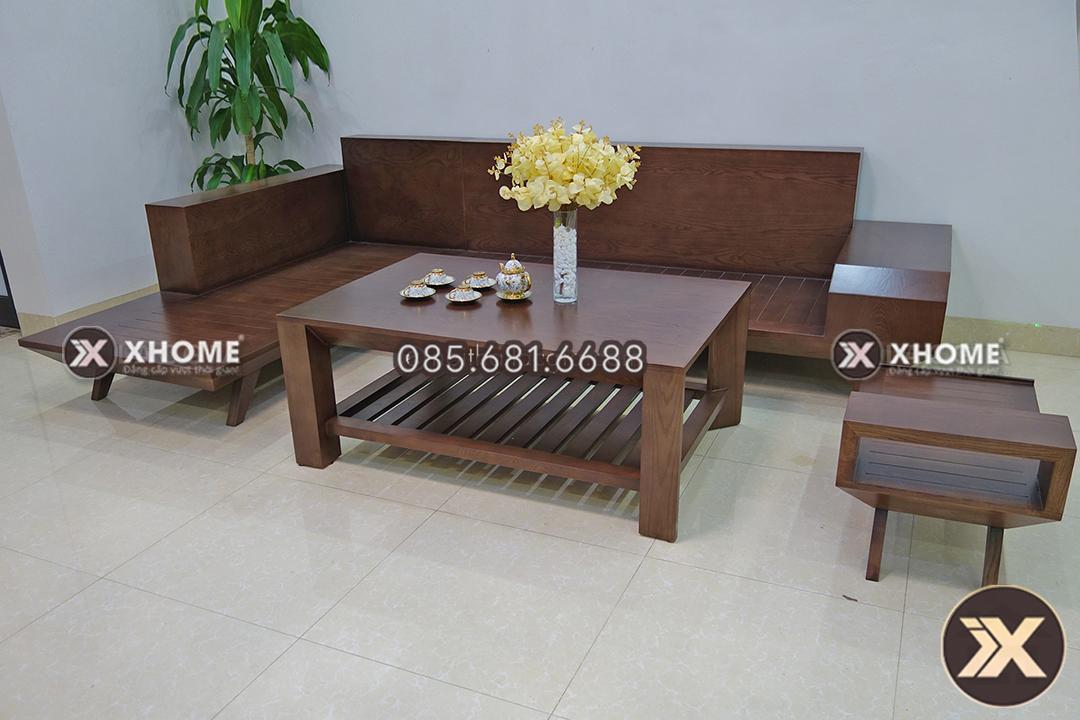 sofa go chu L cho phong khach nho SF05 8 - Sofa gỗ chữ L đẹp SF05