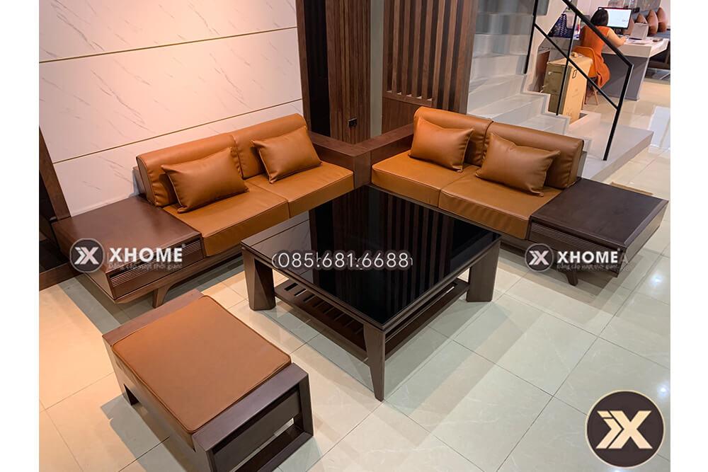 sofa go dep cao cap sf19 - Sofa gỗ tự nhiên đẹp SF19