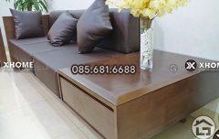 Sofa gỗ sồi Nga cao cấp cho không gian phòng khách hiện đại