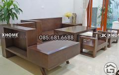 Sofa gỗ đẹp cho phòng khách chung cư