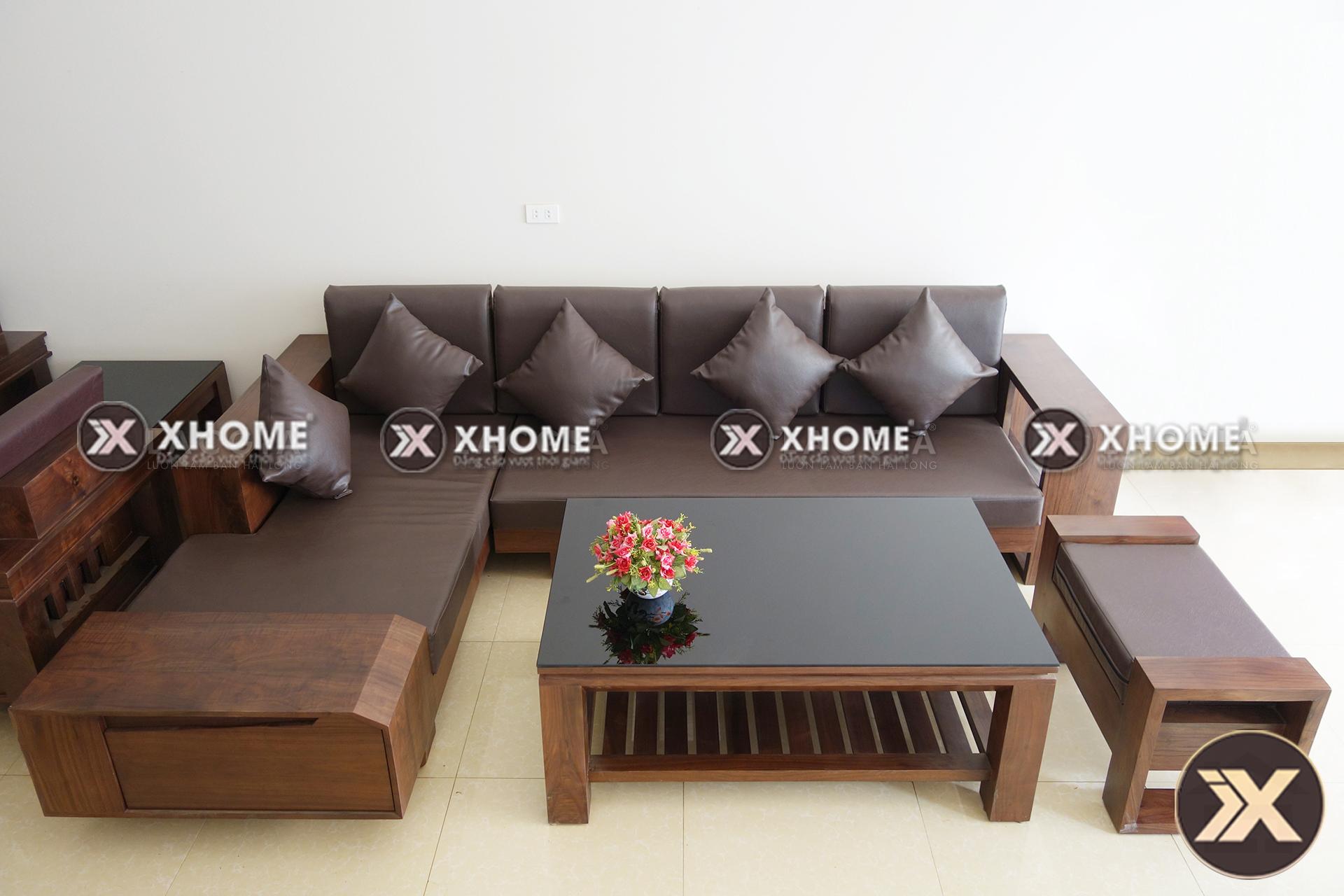 sofa go hien dai cao cap SF03 5 - Sofa gỗ hiện đại SF03