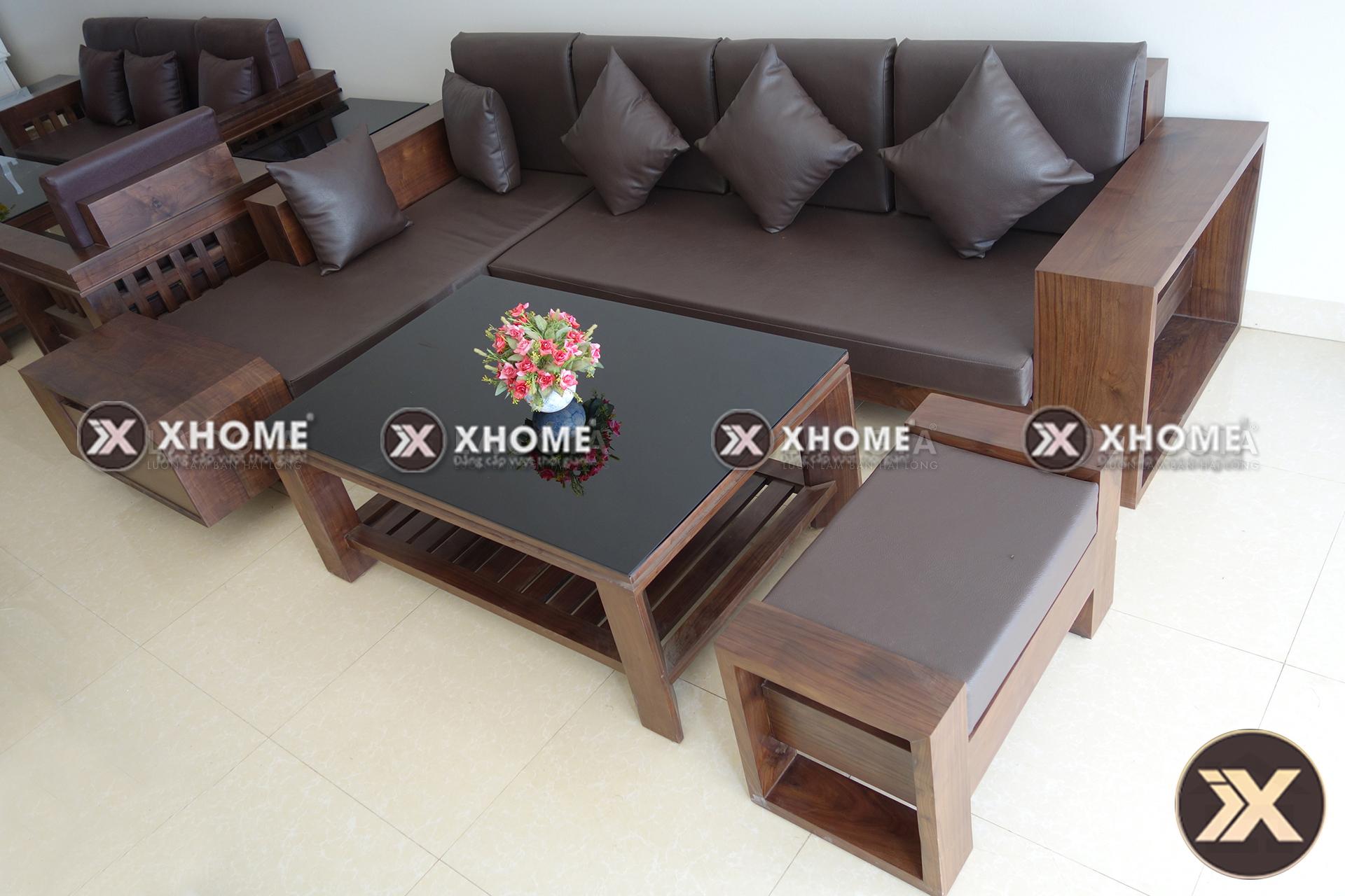 sofa go hien dai cao cap SF03 6 - Sofa gỗ hiện đại SF03