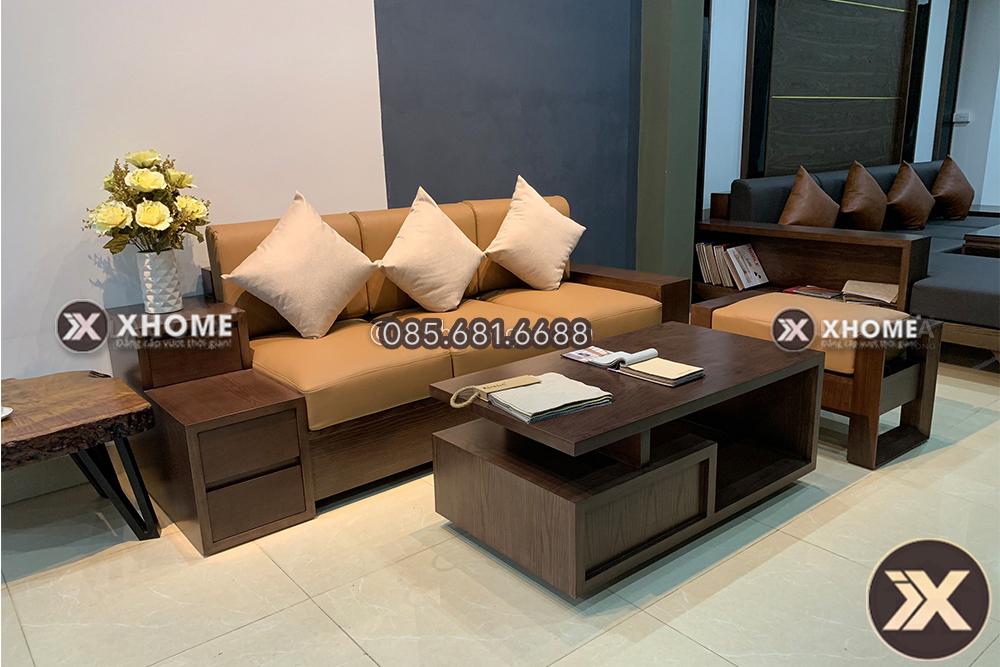 sofa go nho gon SF15 4 - Những kinh nghiệm của chuyên gia khi lựa chọn sofa gỗ phòng khách