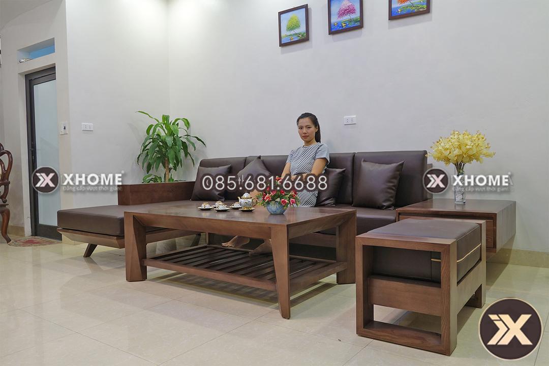 sofa go tu nhien SF08 2 - Sofa gỗ cao cấp SF08
