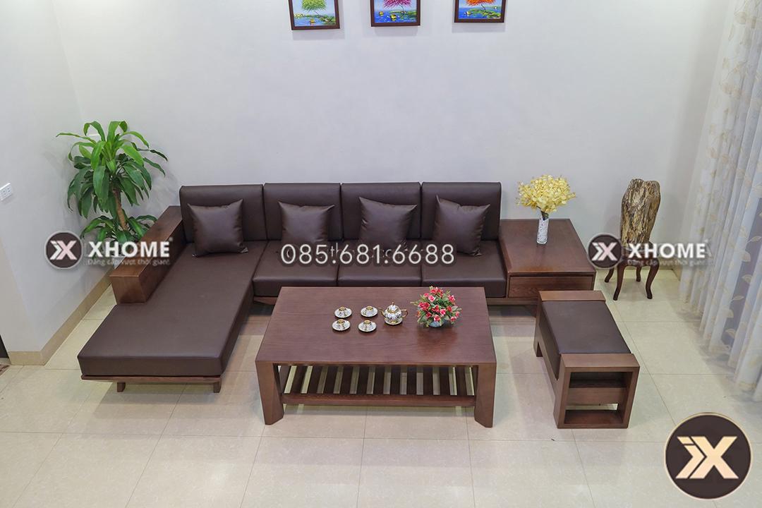 sofa go tu nhien SF08 - Sofa gỗ cao cấp SF08