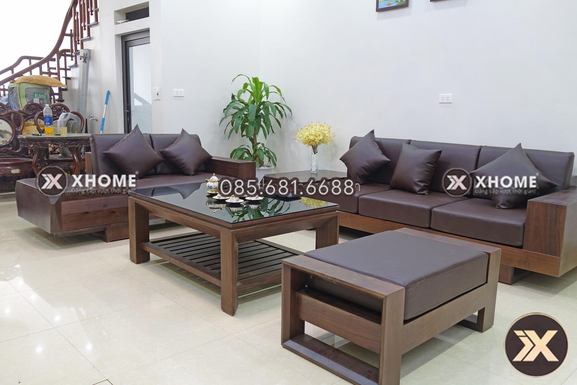 Mẫu sofa gỗ sồi Nga đẹp