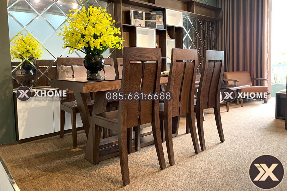 ban an go cao cap ba14 5 - Đón tết 2020 trọn vẹn với chiếc bàn ăn gỗ tự nhiên