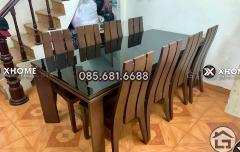 Mẫu bàn ăn gỗ tự nhiên đẹp