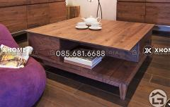 Bàn trà gỗ phòng khách hiện đại