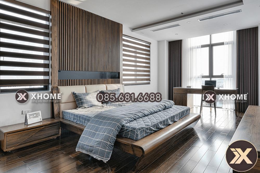Kích thước giường ngủ gỗ cao cấp phù hợp đem lại trải nghiệm tuyệt vời
