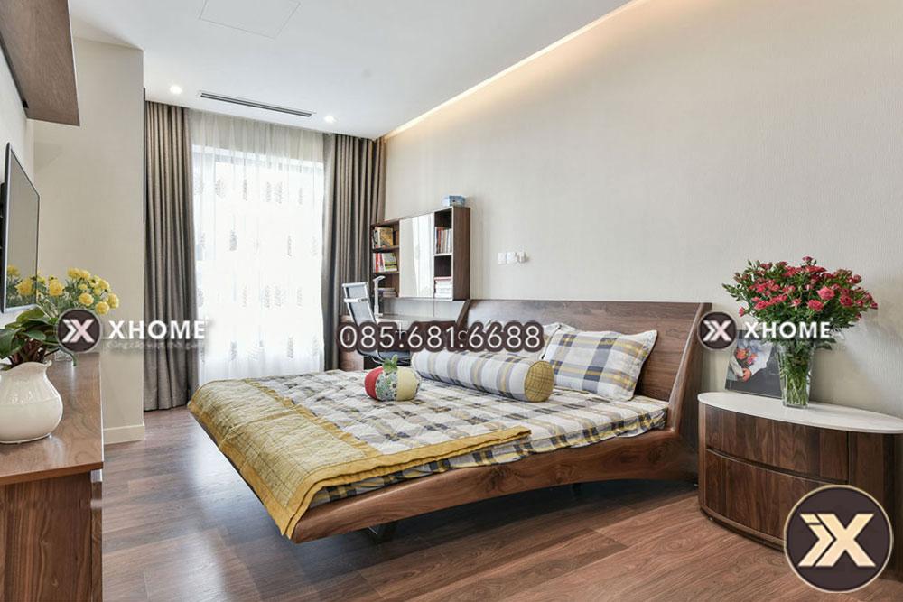 giuong ngu go cao cap gn15 - Giường ngủ gỗ cao cấp GN15