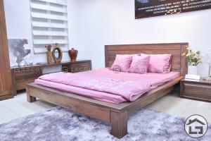 Giường ngủ gỗ đơn giản, tinh tế