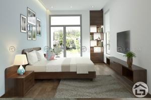 Giường ngủ gỗ cho phòng khách hiện đại