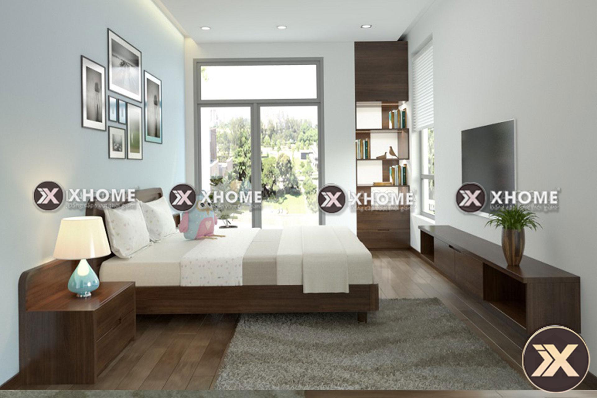 giuong ngu go hien dai gn02 - Giường ngủ gỗ hiện đại GN02