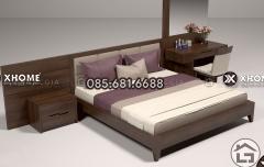 Giường ngủ gỗ hiện đại cho phòng ngủ sang trọng
