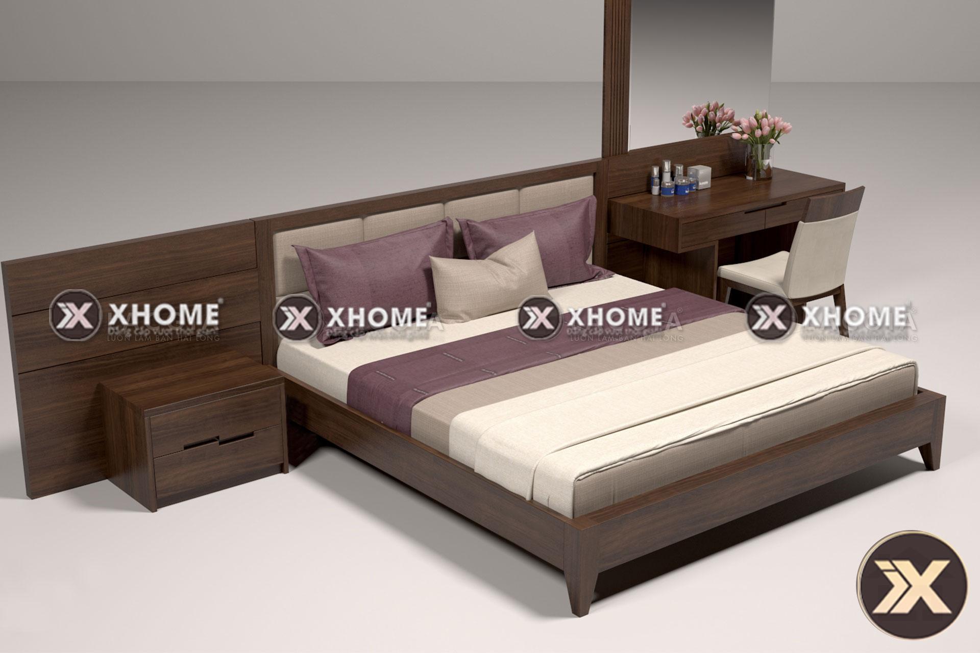 giuong ngu go hien dai gn06 - Giường ngủ gỗ hiện đại GN06