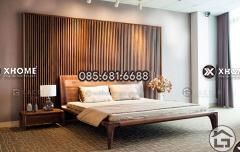 Mẫu giường ngủ gỗ tự nhiên cao cấp, hiện đại