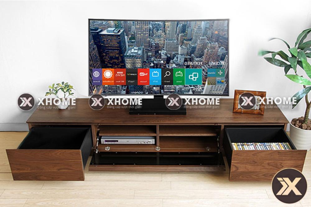 ke tivi go hien dai ktv17 - Tư vấn lựa chọn kệ tivi gỗ theo chuyên gia thiết kế