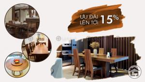 Bàn ăn gỗ cao cấp, bàn ăn gỗ hiện đại giá tốt tại Xhome