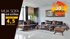 Sofa gỗ cao cấp, hiện đại cho phòng khách