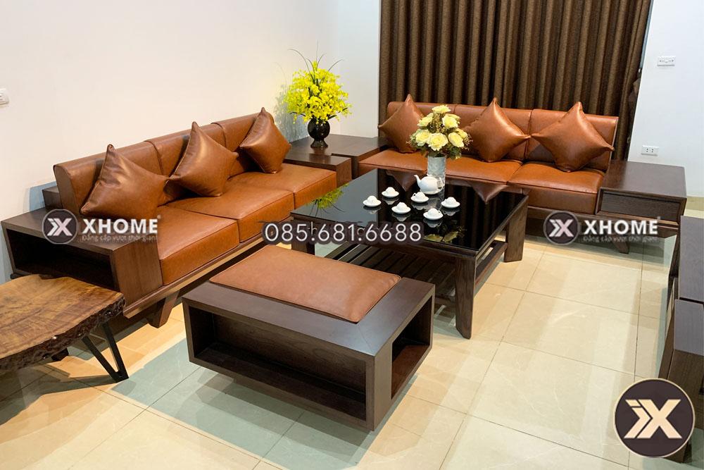sofa go cao cap SF17 16 - Bộ sưu tập sofa gỗ phòng khách - Kiểu dáng nội thất năm 2020