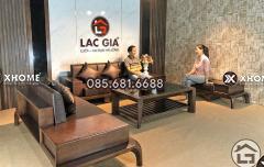 Sofa gỗ cao cấp cho phòng khách đẹp tại Nội Thất Xhome