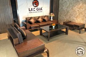 Sofa gỗ óc chó với phòng các thiết kế hiện đại