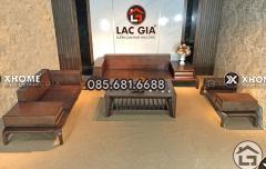 Mẫu sofa gỗ phòng khách SF10 sang trọng, đẳng cấp