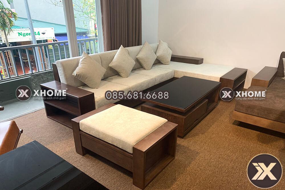 sofa go goc chu L SF24 2 - Kích thước tiêu chuẩn của sofa gỗ chữ L hiện đại