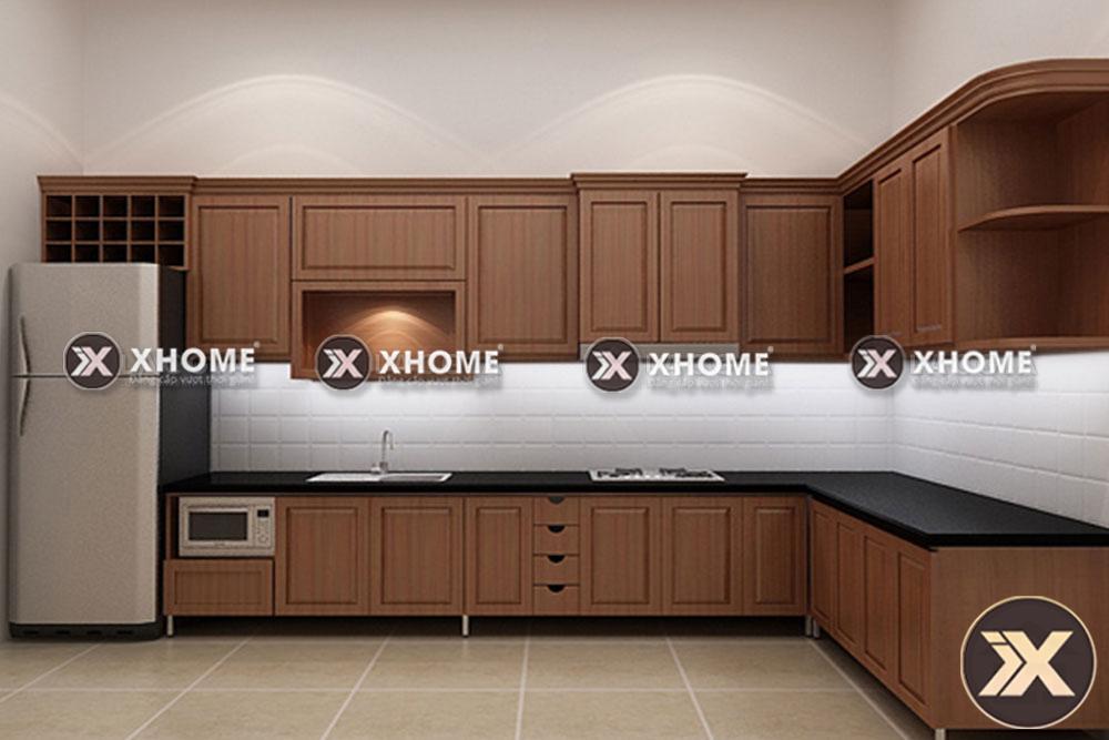 tu bep go hien dai tb02 - 4 yếu tố quan trọng ảnh hưởng tới thiết kế nội thất với tủ bếp
