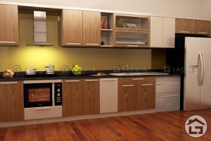 Tủ bếp gỗ hiện đại TB04