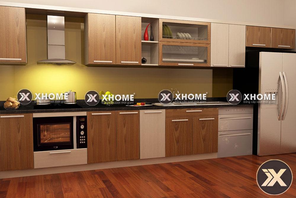 tu bep go hien dai tb04 - 5 Câu hỏi thắc mắc dành cho tủ bếp gỗ công nghiệp hiện đại