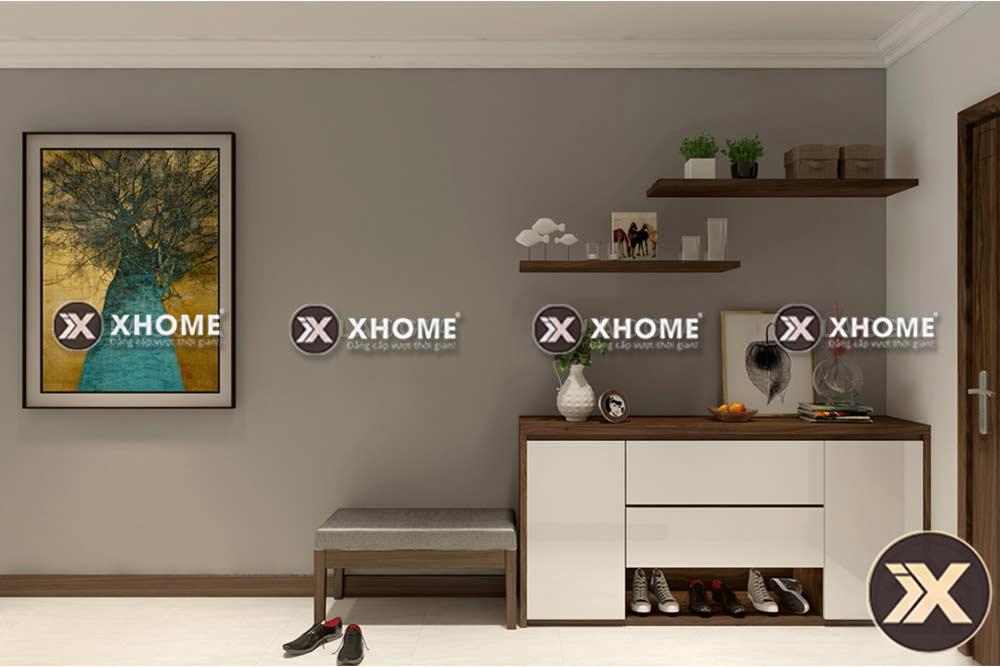 tu giay go cao cap tg01 - 4 Mẹo sắp xếp đồ đạc trong không gian phòng khách gia đình