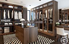 Tủ quần áo cao cấp, gỗ tự nhiên sang trọng