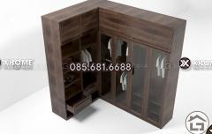 Bộ sưu tập tủ quần áo gỗ chữ L cao cấp