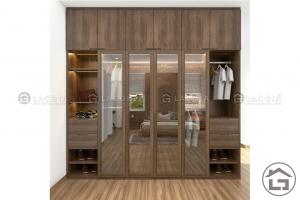 Thiết kế mẫu tủ quần áo hiện đại