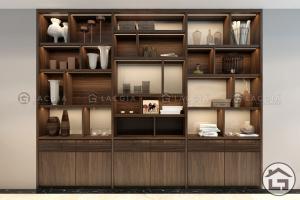 Tủ trang trí gỗ hiện đại, cao cấp